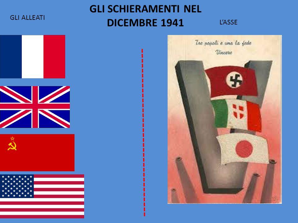 GLI SCHIERAMENTI NEL DICEMBRE 1941