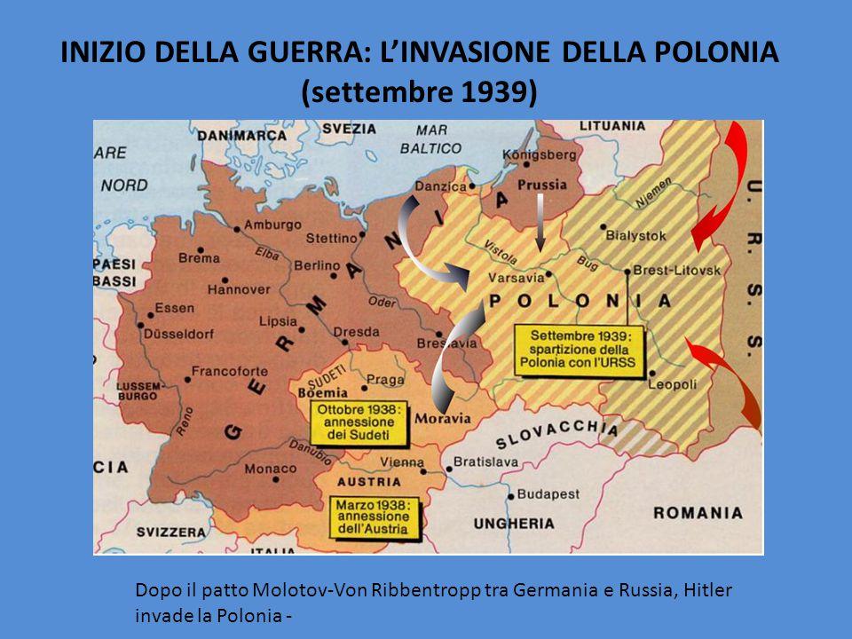 INIZIO DELLA GUERRA: L'INVASIONE DELLA POLONIA