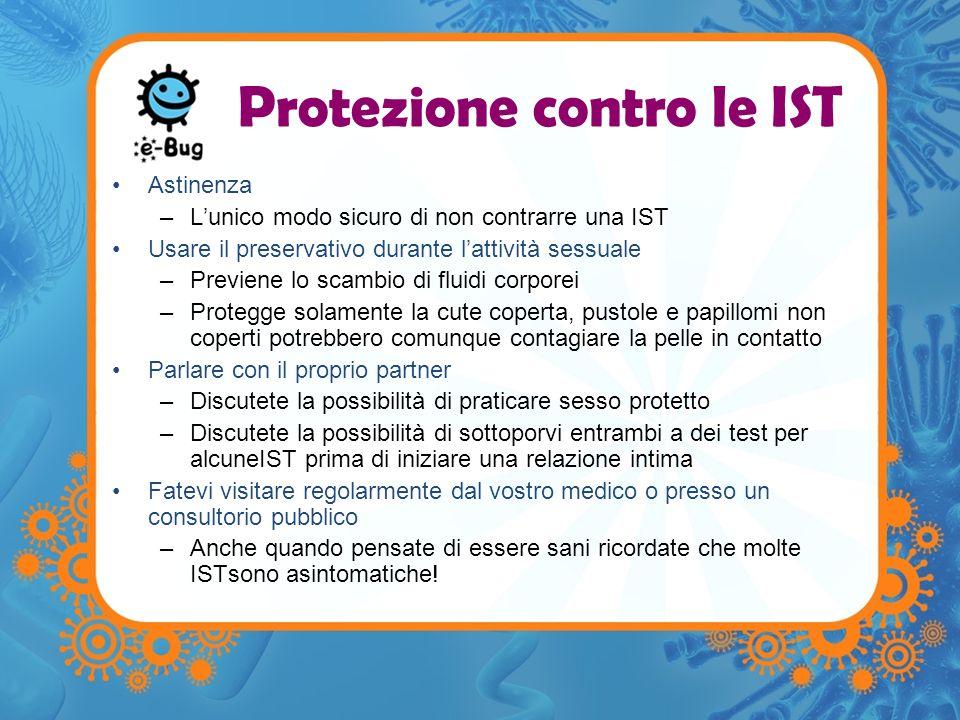 Protezione contro le IST