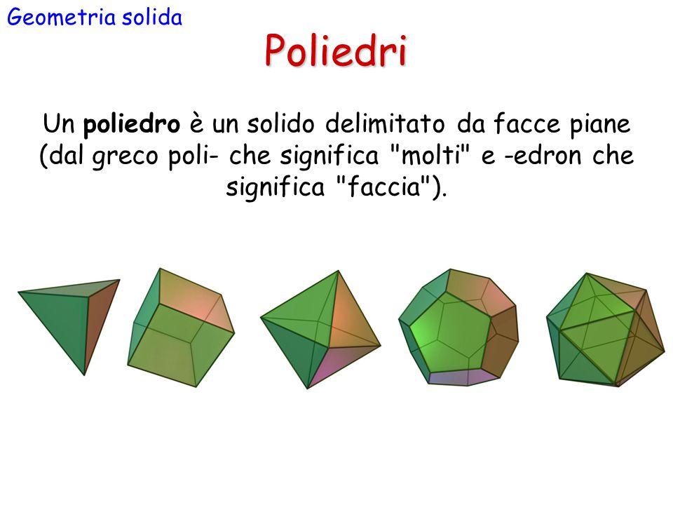 Geometria solida Poliedri.