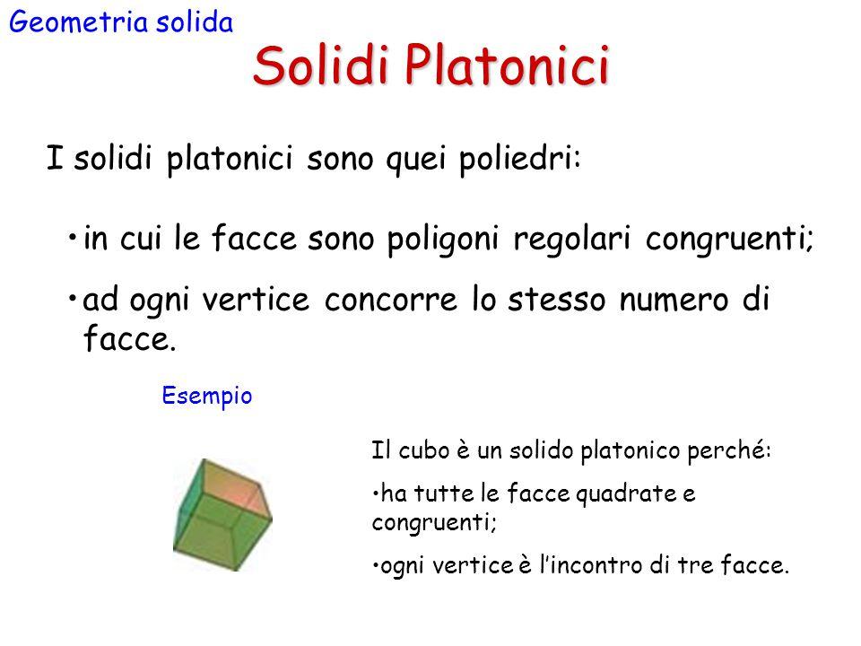 Solidi Platonici I solidi platonici sono quei poliedri: