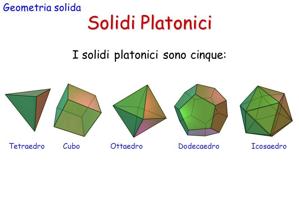 I solidi platonici sono cinque: