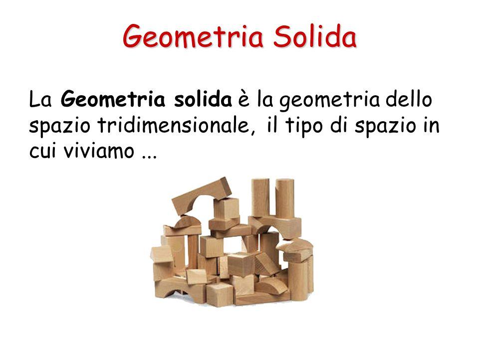Geometria Solida La Geometria solida è la geometria dello spazio tridimensionale, il tipo di spazio in cui viviamo ...