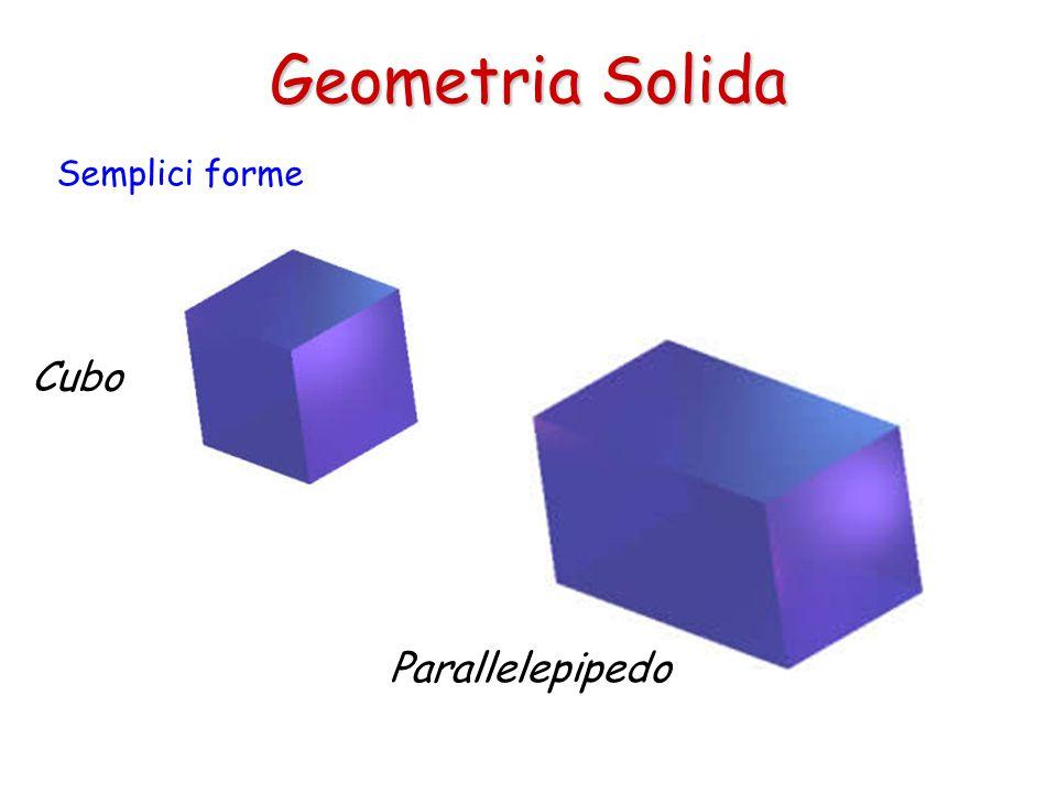 Geometria Solida Semplici forme Cubo Parallelepipedo