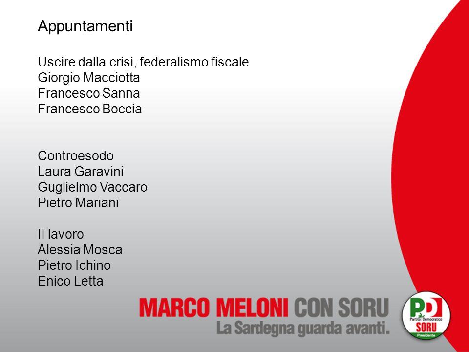 Appuntamenti Uscire dalla crisi, federalismo fiscale Giorgio Macciotta