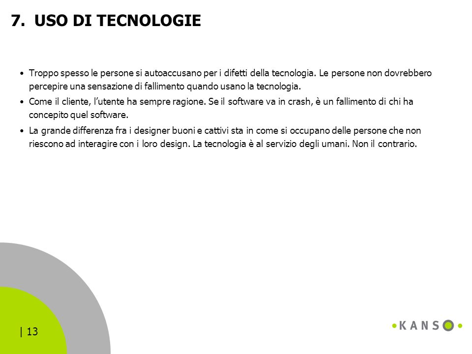 USO DI TECNOLOGIE