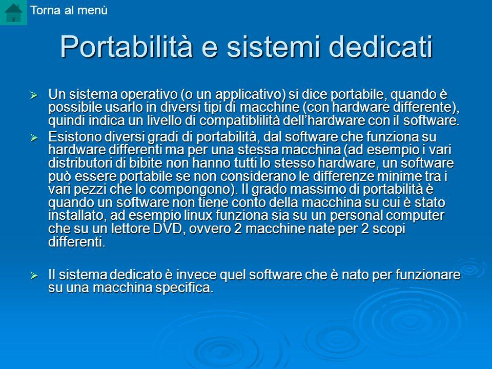 Portabilità e sistemi dedicati