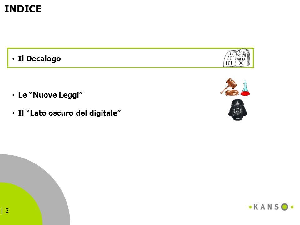 INDICE Il Decalogo Le Nuove Leggi Il Lato oscuro del digitale 2