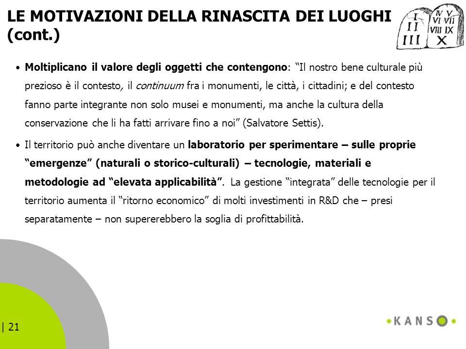LE MOTIVAZIONI DELLA RINASCITA DEI LUOGHI (cont.)
