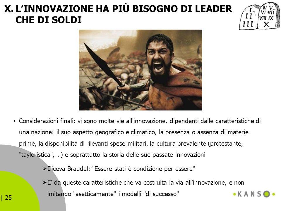 L'INNOVAZIONE HA PIÙ BISOGNO DI LEADER CHE DI SOLDI