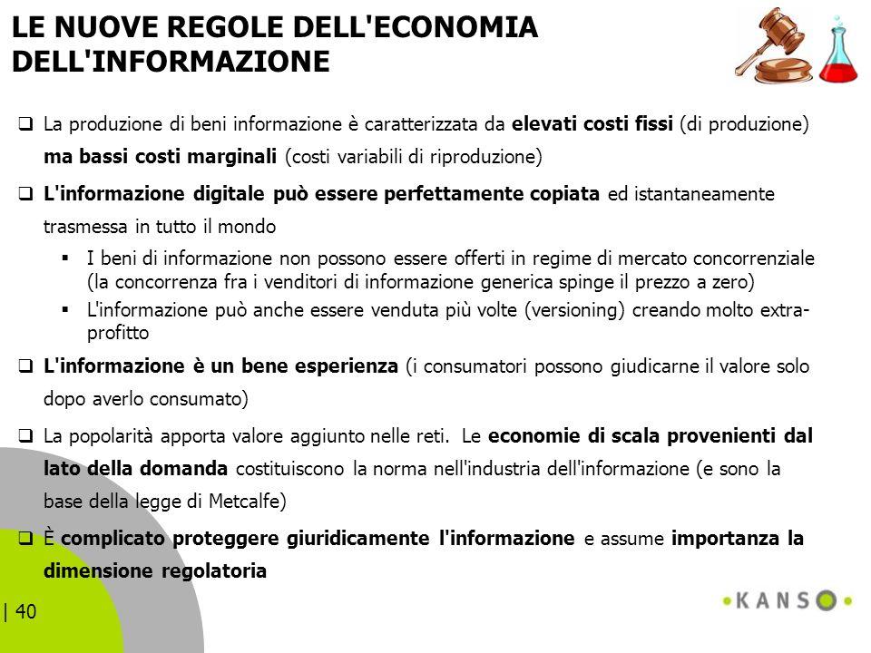 LE NUOVE REGOLE DELL ECONOMIA DELL INFORMAZIONE