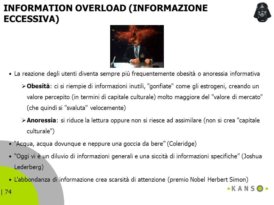 INFORMATION OVERLOAD (INFORMAZIONE ECCESSIVA)
