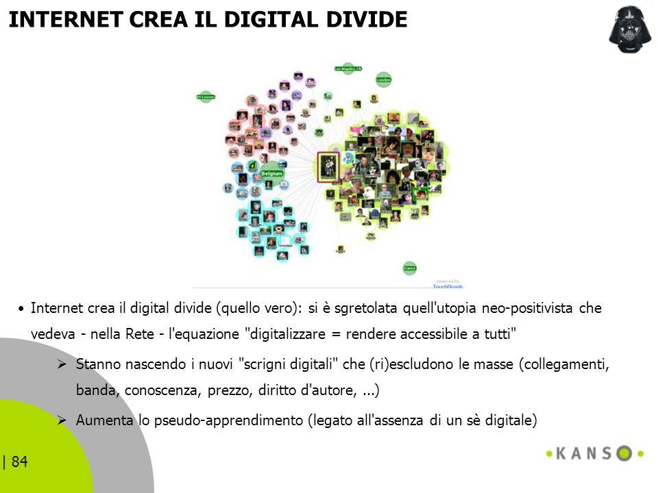INTERNET CREA IL DIGITAL DIVIDE