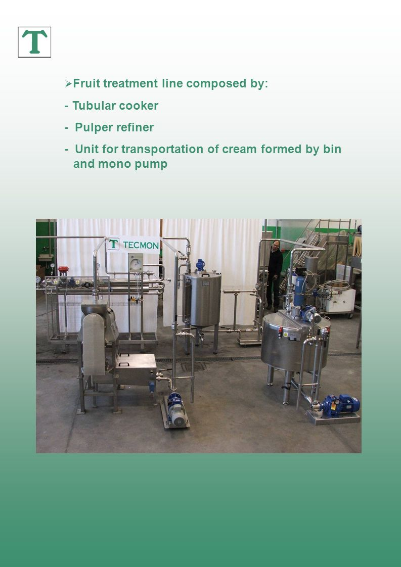 - Unit for transportation of cream formed by bin and mono pump
