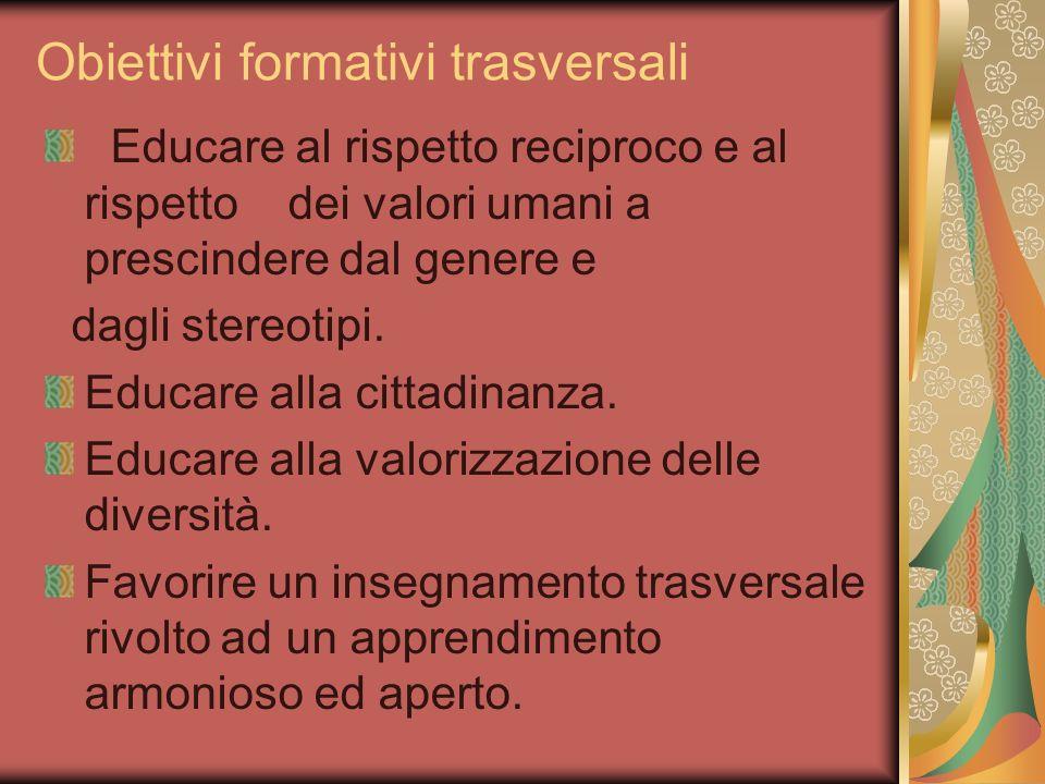 Obiettivi formativi trasversali