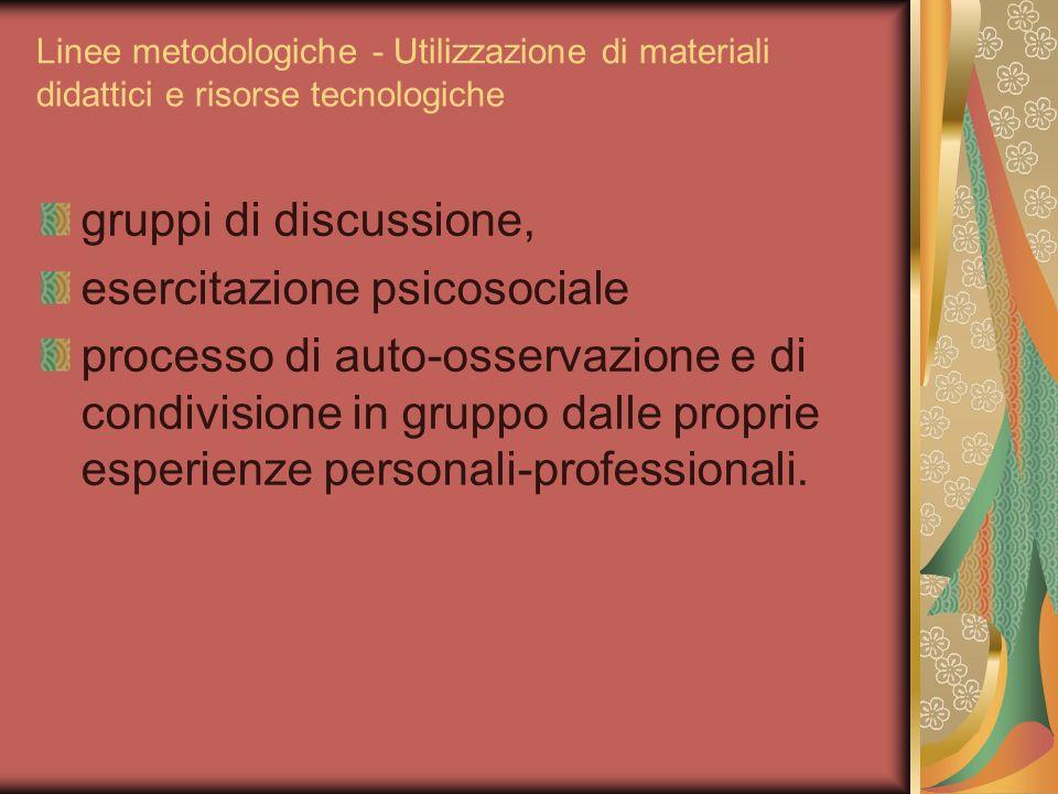 esercitazione psicosociale