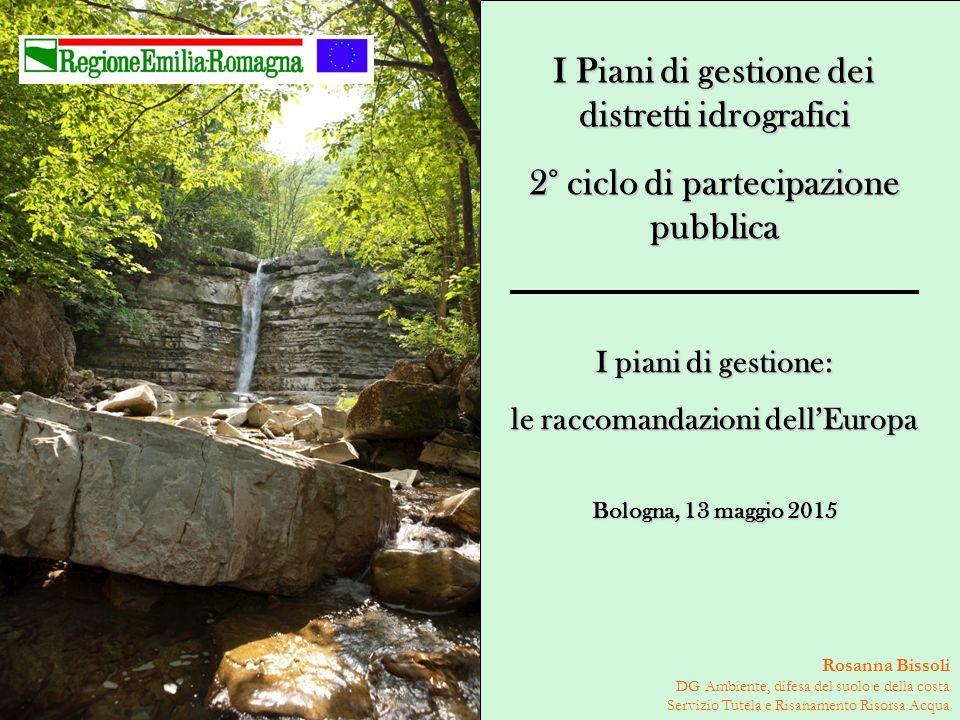 I Piani di gestione dei distretti idrografici