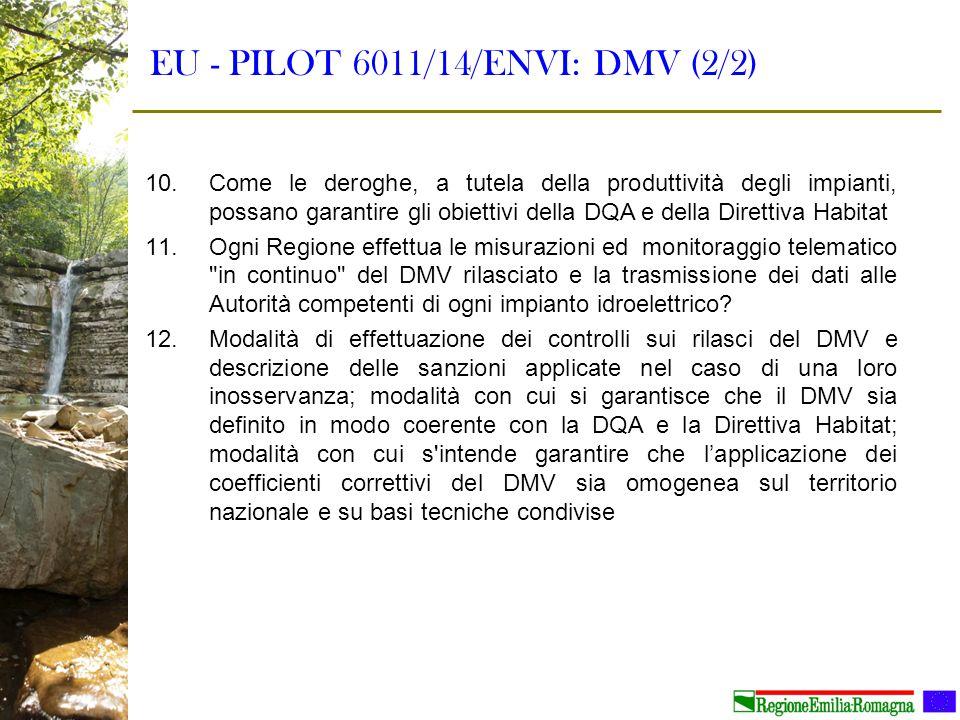 EU - PILOT 6011/14/ENVI: DMV (2/2)