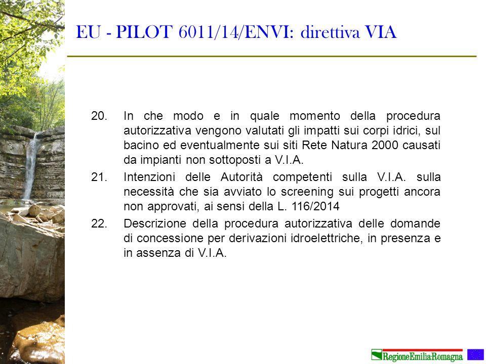EU - PILOT 6011/14/ENVI: direttiva VIA