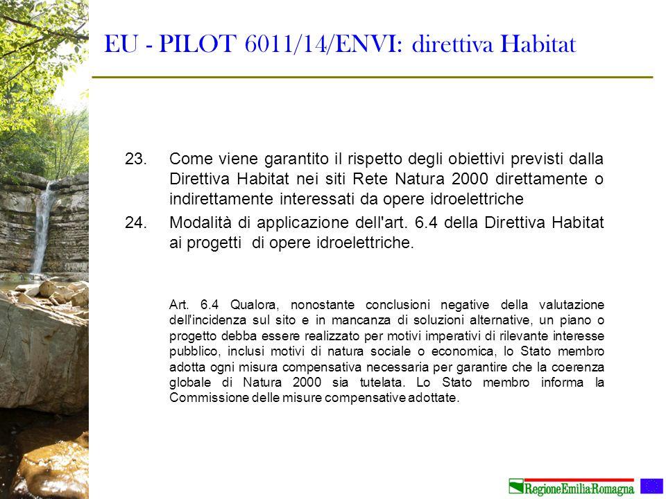 EU - PILOT 6011/14/ENVI: direttiva Habitat