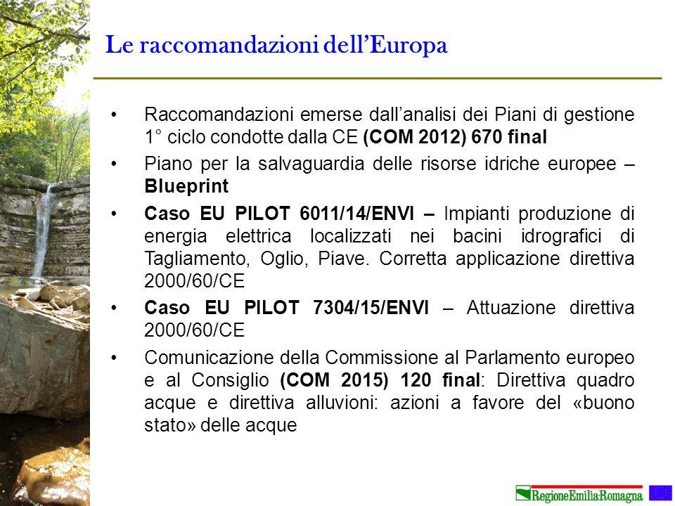Le raccomandazioni dell'Europa