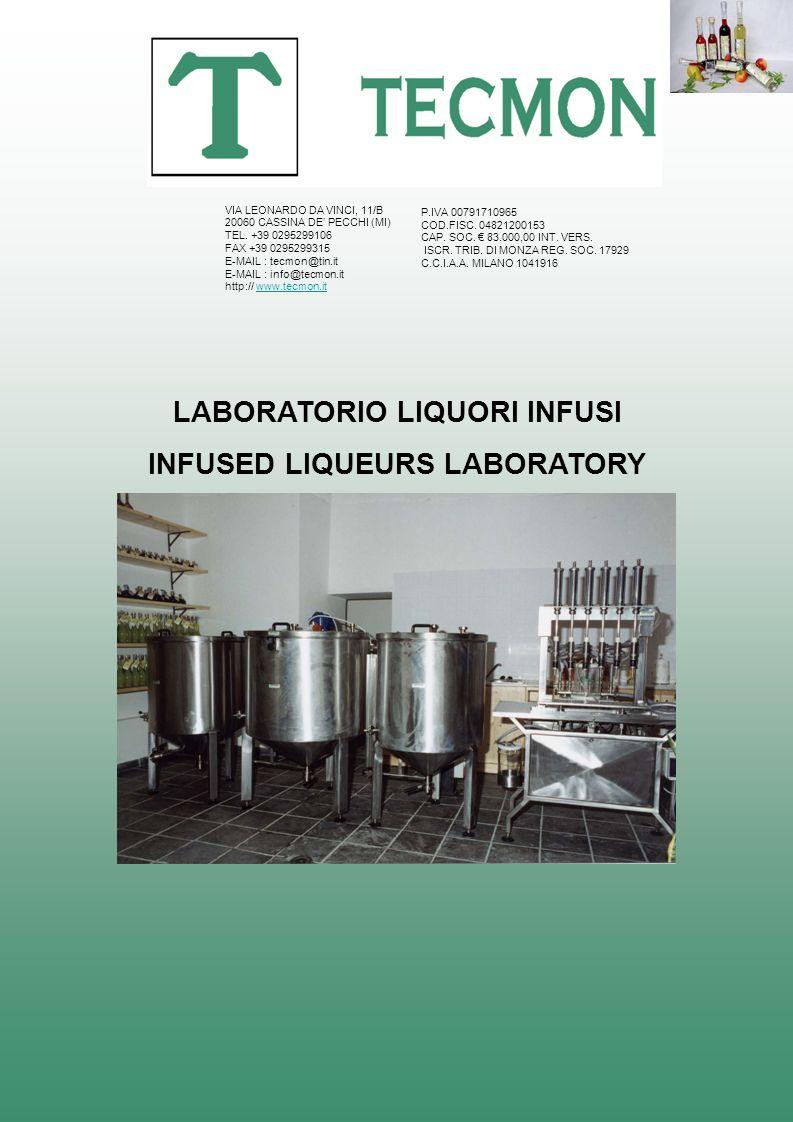 LABORATORIO LIQUORI INFUSI INFUSED LIQUEURS LABORATORY