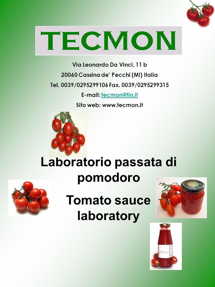 Laboratorio passata di pomodoro Tomato sauce laboratory