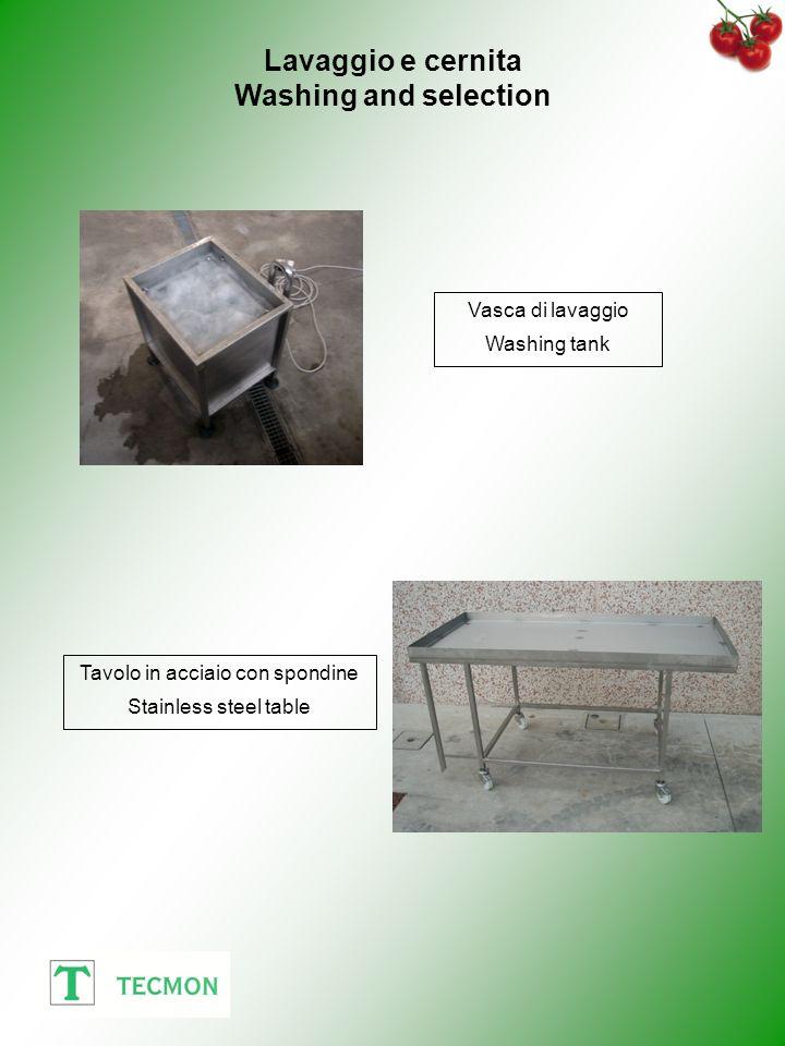 Tavolo in acciaio con spondine