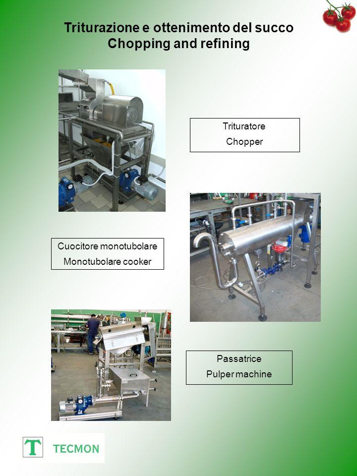 Triturazione e ottenimento del succo