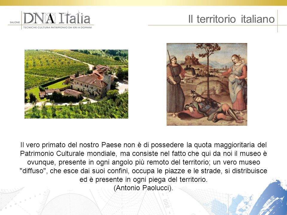 Il territorio italiano