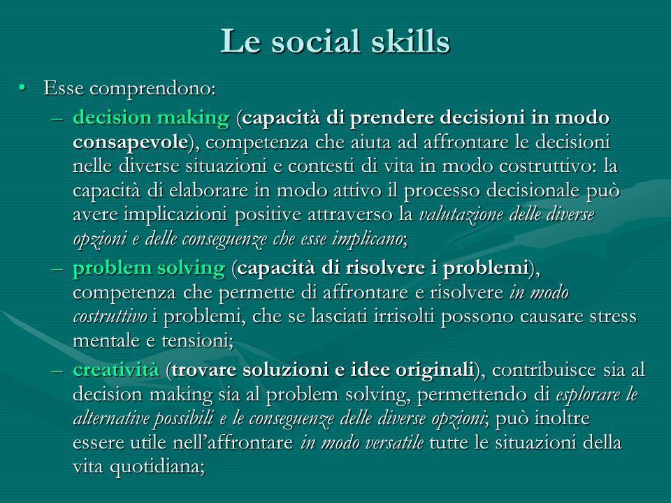 Le social skills Esse comprendono: