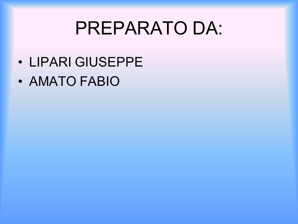 PREPARATO DA: LIPARI GIUSEPPE AMATO FABIO
