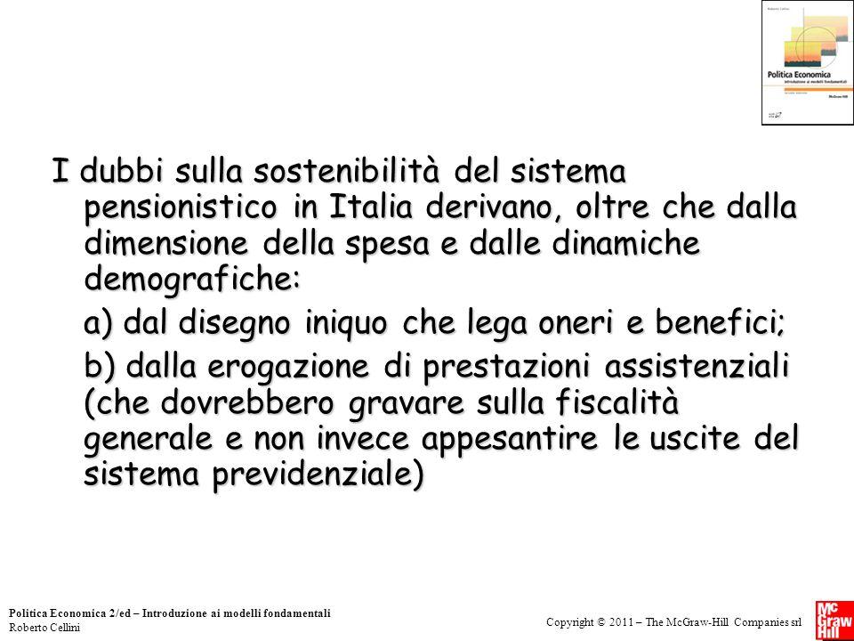 a) dal disegno iniquo che lega oneri e benefici;