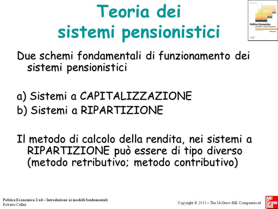 Teoria dei sistemi pensionistici