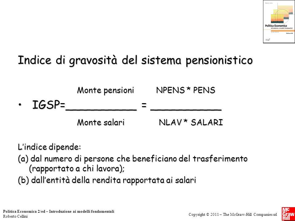 Indice di gravosità del sistema pensionistico