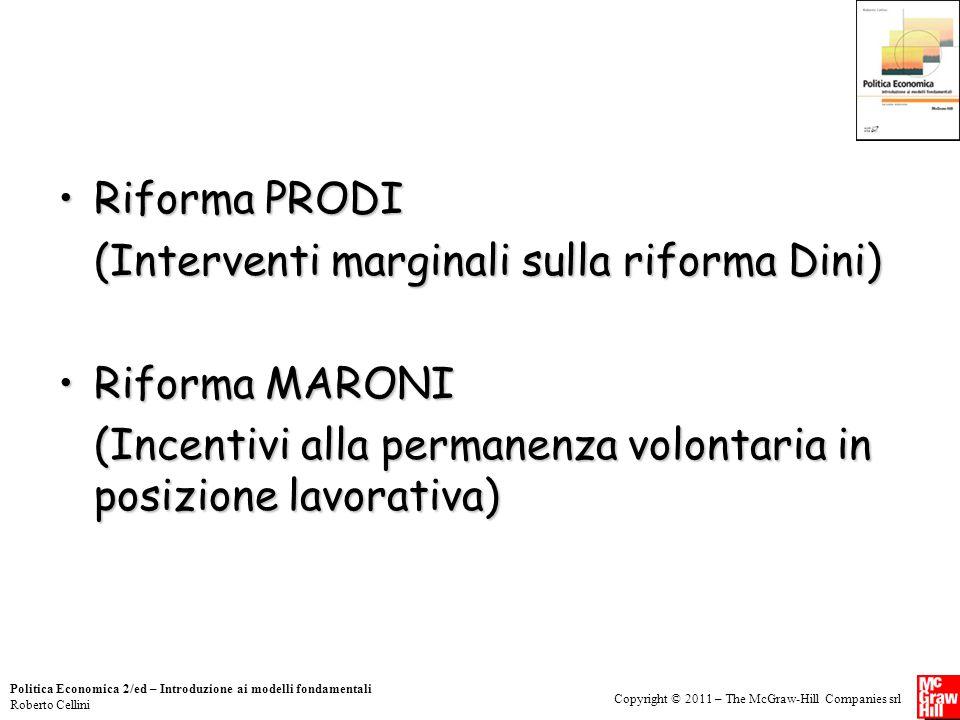 (Interventi marginali sulla riforma Dini) Riforma MARONI
