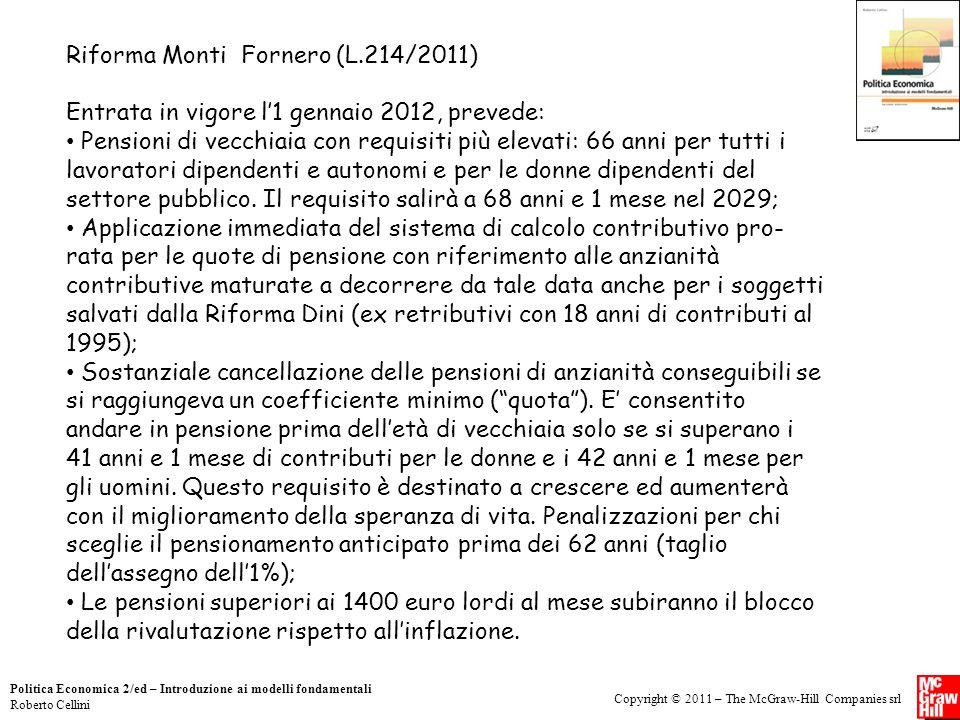 Riforma Monti Fornero (L.214/2011)