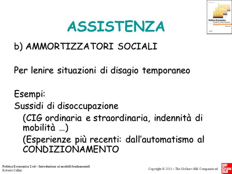 ASSISTENZA b) AMMORTIZZATORI SOCIALI