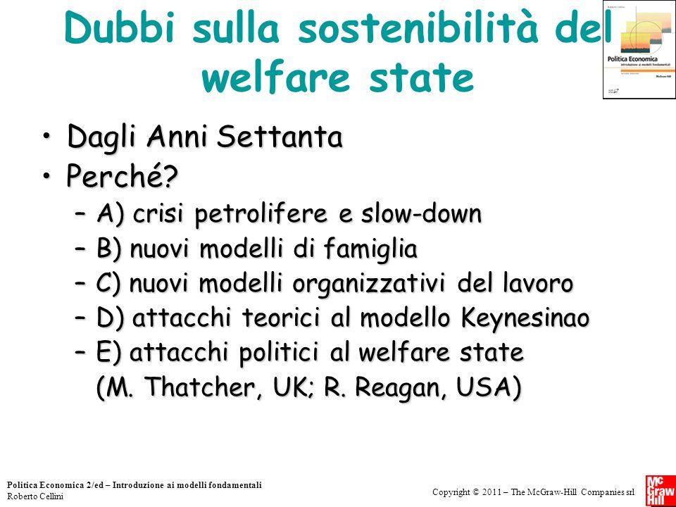 Dubbi sulla sostenibilità del welfare state