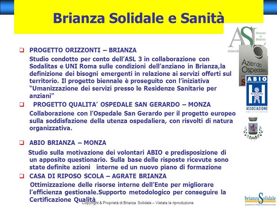 Brianza Solidale e Sanità