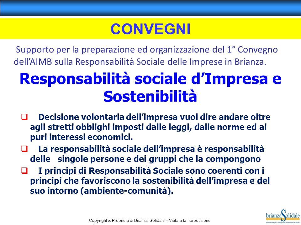 Responsabilità sociale d'Impresa e Sostenibilità