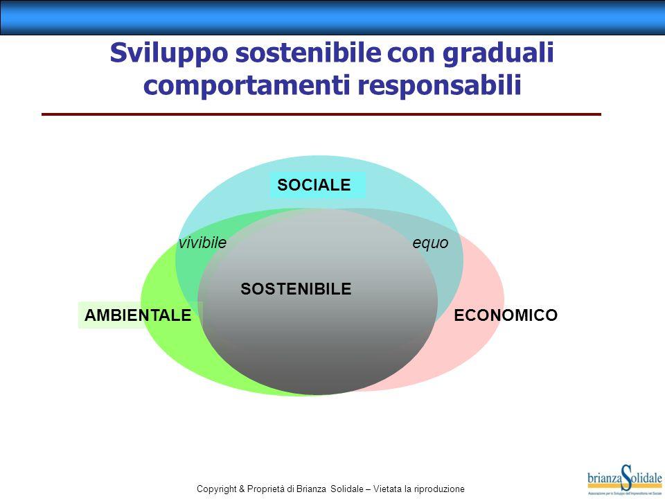 Sviluppo sostenibile con graduali comportamenti responsabili