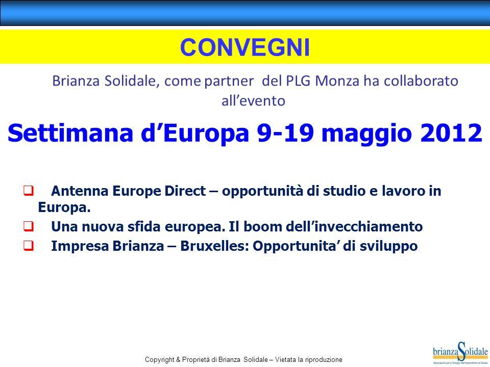 Settimana d'Europa 9-19 maggio 2012