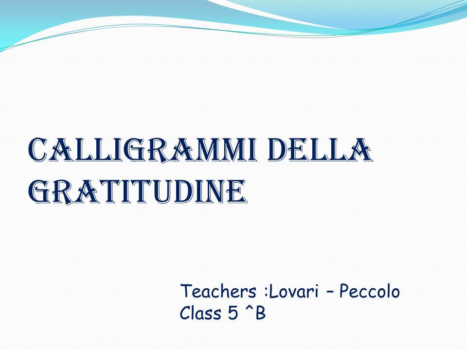 Calligrammi della gratitudine