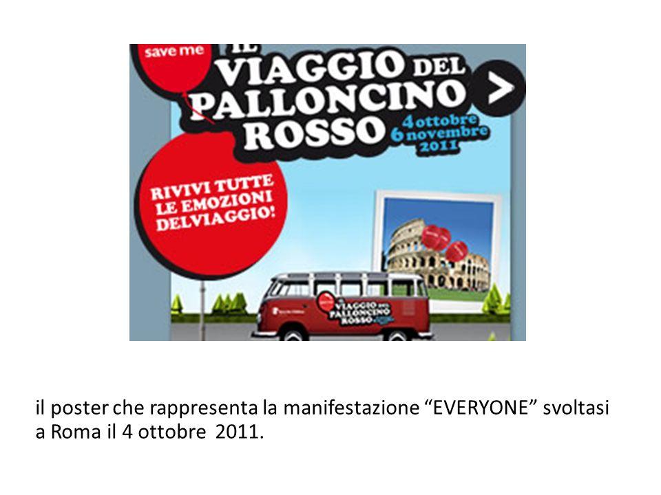 il poster che rappresenta la manifestazione EVERYONE svoltasi a Roma il 4 ottobre 2011.