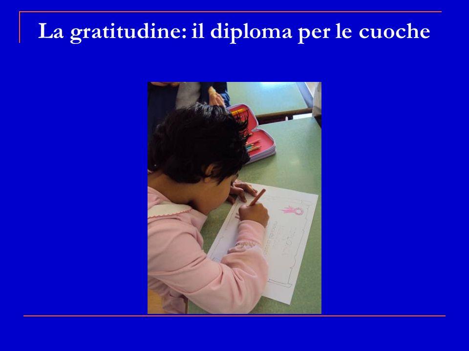 La gratitudine: il diploma per le cuoche