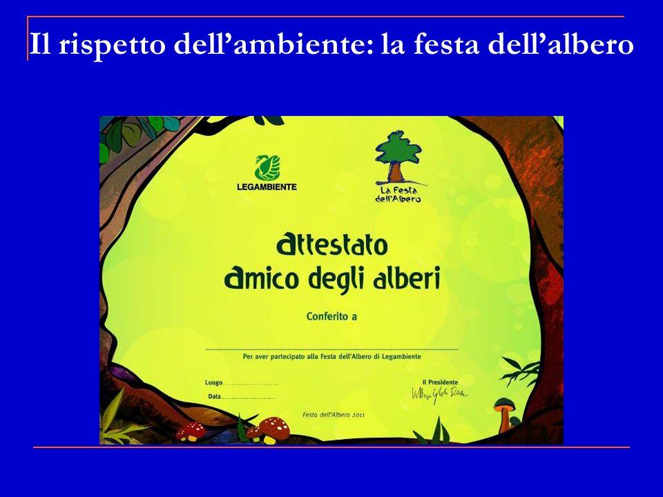 Il rispetto dell'ambiente: la festa dell'albero