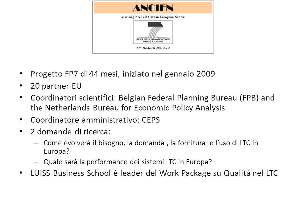 Progetto FP7 di 44 mesi, iniziato nel gennaio 2009 20 partner EU