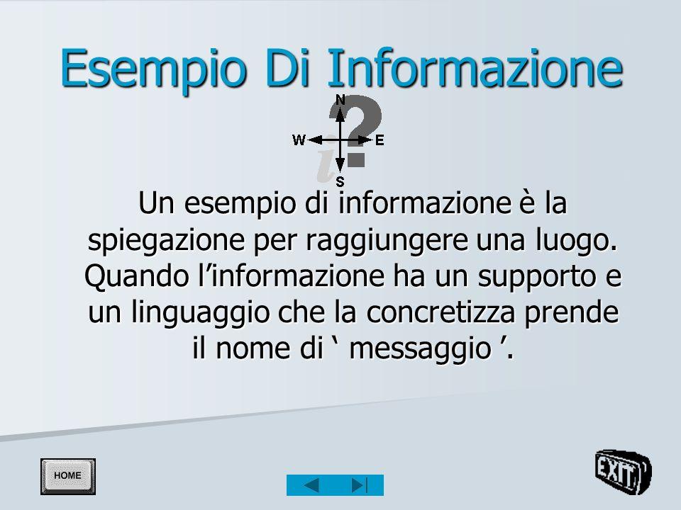 Esempio Di Informazione