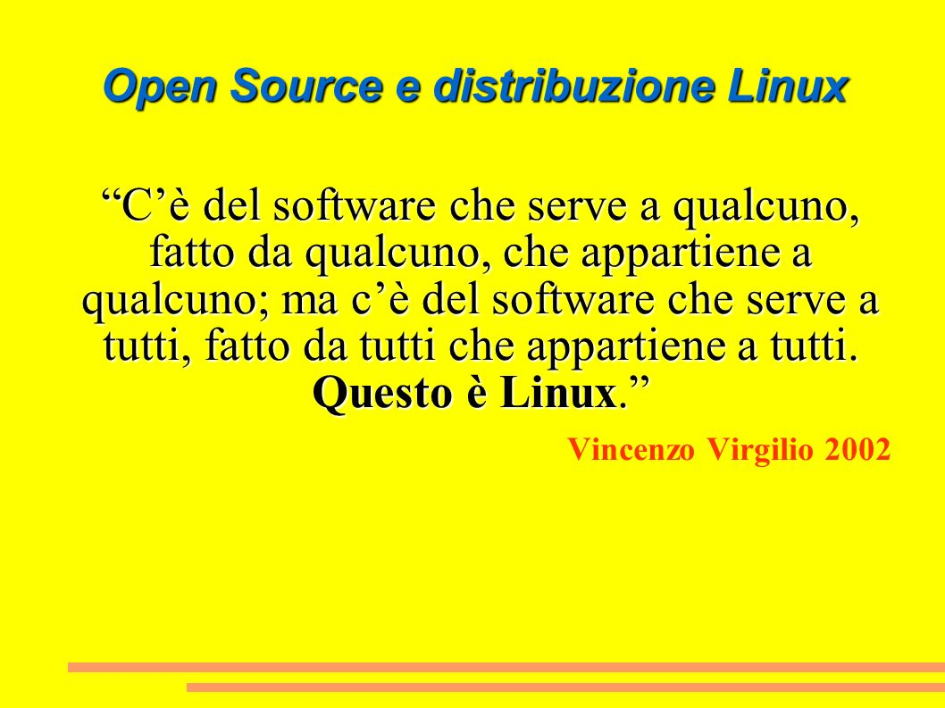 Open Source e distribuzione Linux